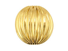9ct Yellow Gold Corrugated Round Spacer Bead 4mm - 2 Hole - Findings Jewellery