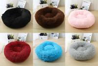 XS-XXL Pet Dog Cat Calming Bed Comfy Shag Fluffy Warm Bed Nest Mattress Donut