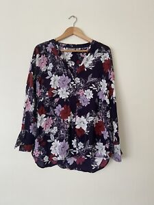 Sussan Size 12 Floral Long Sleeve Shirt New Without Tag