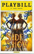 Side Show signed OPENING NIGHT Playbill erin davie emily padgett matt hydzik