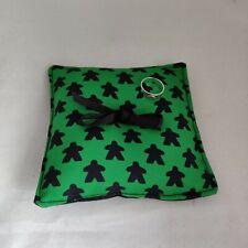 Meeple Wedding Ring Pillow - Board Game Ring Cushion -  Geeky Ring Bearer Pillow