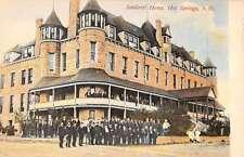 Hot Springs South Dakota Soldiers Home Exterior Antique Postcard K21597