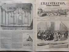 L' ILLUSTRATION 1852 N 468 ATTENTAT SUR LA PERSONNE DE LA REINE D'ESPAGNE.