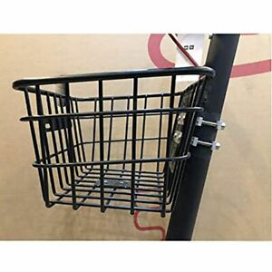 Electric Scooter Front Basket Stainless Handle Storage Bicycle Hanging Basket