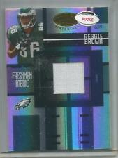2005 Leaf  #FF-220, Reggie Brown  Game Used Rookie Jersey Card   #004/999