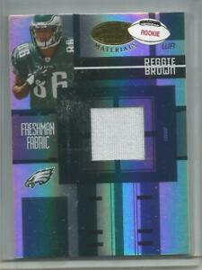 2005 Leaf  #FF-220, Reggie Brown  Game Used Rookie Jersey Card   #004/999