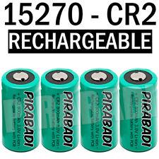 4 PILE ACCU BATTERIE 15270 CR2 CR-2 Li-ion 3V 800Mah RECHARGEABLE