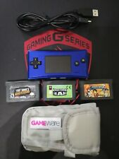 Gameboy Micro blue & games