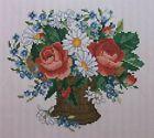 Roses & Daisies, CROSS STITCH PATTERN, #EMS029, Ellen Maurer-Stroh LOVELY FLORAL