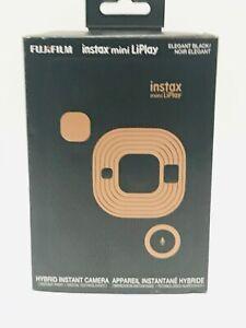 Fuji Film Instax Mini LiPlay Hybrid Instant Camera, Elegant Black- Brand New