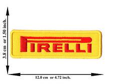 Yellow Pirelli Motorcycle Biker Vehicle Racing V03 Logo Applique Iron on Patch
