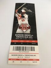 Hutchison Win McGowan Save June 13 2014 6/13/14 Orioles Blue Jays Full Ticket
