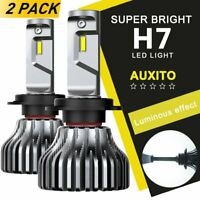 AUXITO H7 LED Headlight Kit 9000LM 100W FANLESS Low Beam Bulbs 12V 6000K White A