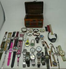 Treasure Chest Huge Lot 40 Mens Womens Watches Name Brands Bracelet Stop Wrist