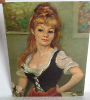 "1960's/1970's ""Claudine"" textured print by French artist, Marcel Dyf - 8 x 10"