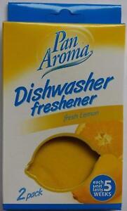 Twin Pack Each Unit lasts 5 Weeks Pan Aroma Dishwasher Smelling Freshener Long