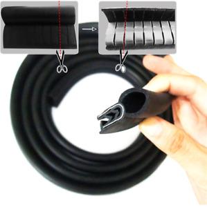 Car Steel+Rubber EPDM Foam Seal Moulding Strip Hood Trunk Edge Guard Insulation