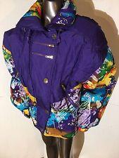 Rare East West 80's-90's NEON bright Purple/multi Color Ski Jacket Size Medium