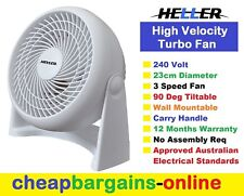 FLOOR FAN WALL FAN DESK FAN PORTABLE FAN HIGH VELOCITY TURBO FAN 240 Volt 23 cm