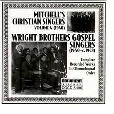 Mitchell's Christian Singers, Vol. 4 & Wright Brothers Gospel Singers NEW CD -