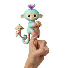 WowWee Fingerlings Baby Monkey Mini Bffs Danny and Gianna (Orange), Turquoise