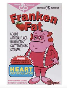 "Ron English Popaganda Cereal Killers Franken Fat 3"" Vinyl Mini Berry"
