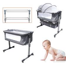 Bedside Bassinet Cradle Crib Nursery Furniture Baby Infant with Storage Basket