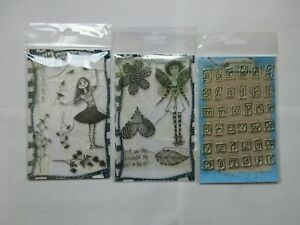 Three Sets of Lindsay Mason Designs Clear Stamps Used