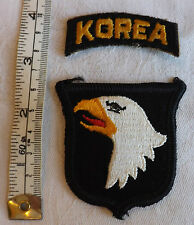 Military American Korea 101st airborne Infantry Division Cloth Badge (1395)