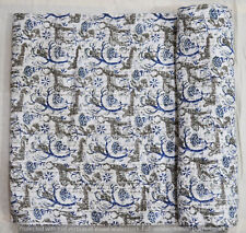 New Indian Cotton Hand Block Print Twin Kantha Quilt Bedspread Bedding Coverlet