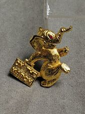 "Republican GOP Elephant ""ON THE MARCH"" Political Vintage Brooch Pin"