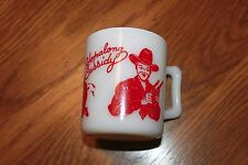 Cowboy Mug.1950's Hazel Atlas RED Hopalong Cassidy Coffee Cup/Mug.