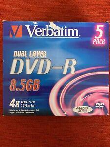 Verbatim 5 Pack Dual Layer DVD-R 8.5GB
