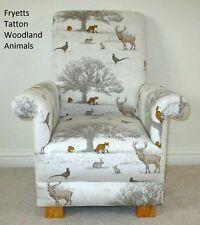 Fryetts Tatton Woodland Animals Fabric Child Chair Deer Fox Kids Nursery Rabbit