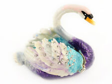 Swan Jewelry Trinket Box Decorative Collection Bird Water Animal Cute Gift 02057