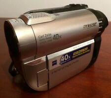 Sony DCR-DVD110E DVD Camcorder Video Camera With Carl Zeiss Lens & Carry Case.