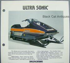 Orig Vintage Bombardier Ultra Sonic Moto-Ski Snowmobile Color Dealer Sales Sheet