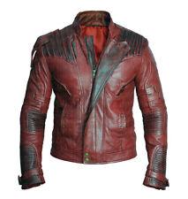 Guardianes de la Galaxia vol 2 Star Lord Chris Pratt Estilo Motero Chaqueta De Cuero