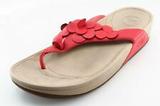 FitFlop Size 9 M Red Flip Flop Synthetic Women Sandal Shoes
