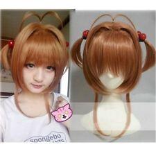 CardCaptors Card Captors Sakura Kinomoto Short Brown Styled Cosplay Hair Wig#63
