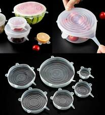 Food Wrap Bowl Pot Pan Cover HeatResistant Reusable Stretch Silicone Lid Kitchen