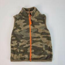 Carters Camo Zip Up Fleece Vest 18M