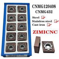 10PCS CNMG432 CNC lathe turning carbide inserts CNMG120408-MA coating PVD CNMG