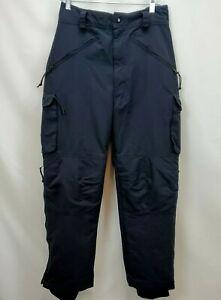 Mens Drift Snowboard Ski Cargo Pants Size Large 32 Black Lined Snow Loose Fit