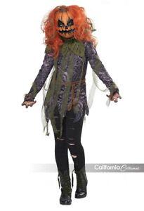 California Costumes Pumpkin Monster Girl Scary Childrens Halloween Costume 00624