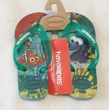 Havaianas Finding Dory Rubber Sandals Kids Size 2 Brand New