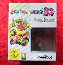Mario Party 10 Edition + Amiibo Figur Mario Vers. 2 Nintendo WiiU Spiel, Neu OVP