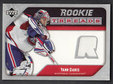 Yann Danis 2005-06 Upper Deck Rookie Threads Jersey Card Canadians