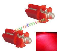 Gauge 2X T5 LED del coche Speedo Dashboard Dash cuña lateral Bombilla Rojo 12V