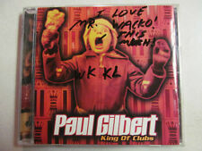 PAUL GILBERT KING OF CLUBS PROMO 1998 ATLANTIC MR. BIG RACER X GUITARIST CD OOP